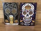 "2- Corona Extra Beer Sugar Skull  & Day Of Dead signs Tin tacker 8""X12"" Man-Cave"