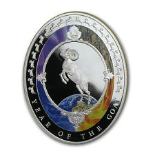 2015 Tokelau 1 oz Silver Year of the Goat Elements Proof (Oval) - SKU #83653