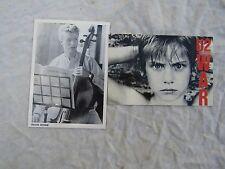 POSTCARDS RARE DAVID BOWIE cello + u2 war un-used