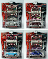 Maisto G Ridez 1:64 scale set of 4 different Chopped VW Bug Beetle Cabriolet