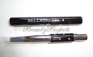 UV Gel Flat Brush SIZE 4 Acrylic Nail Art Gel Builder Pen Professional Bellagio