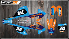 KTM SX50 SX65 Graphics Kit with custom numbers etc - SX 50 65 2002-2018