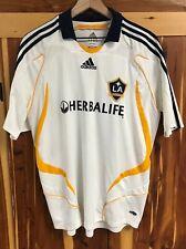 Authentic ADIDAS LA GALAXY David Beckham Herbalife MLS Futbol Soccer Jersey L