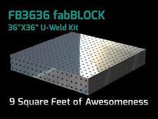CertiFlat FB3636 3'X3' FabBlock DIY Modular Welding Table Top Kit - Heavy-Duty