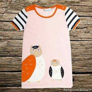 NEW Girls Pink Owl Short Sleeve Shift Dress 2T