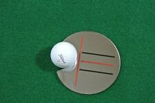 GOLF TARGET MIRROR. SINGLE PUTTING MIRROR, PRACTICE TRAINING AID.