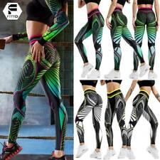 Mujer Pantalones de Yoga Geométrico Leggings Cintura Alta Mallas Deporte Fitness