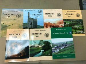 Job lot of 7 British Mining Memoirs Books 2002-2010 NOT inclusive (B4)