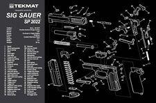SHOOTERS GUN CLEANING BENCH MOUSE MAT TEKMAT for SIG SAUER SP2022 9mm PISTOL