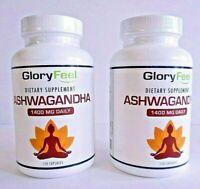 2 Pk Glory Feel Dietary Supplement Ashwagandha 120 Caps 08/2021 Stress & Anxiety