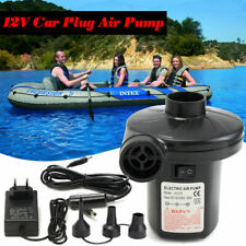 Electric Air Pump Inflator for Inflatables Camping Bed Pool 230V 12V Car Home