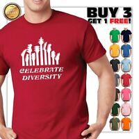 Guitar CELEBRATE DIVERSITY Guitar T-Shirt Musician Tee Guitar Player Shirt