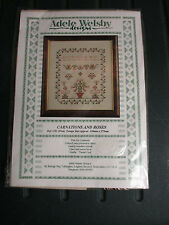 Adele Welsby Designs Carnations and Roses Sampler Cross Stitch Kit England