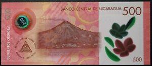 500 cordobas Nicaragua 2019 POLYMER UNC pick new