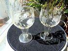 Set of 2 Hand Cut Beer Glasses Ale Glasses Lager Glasses