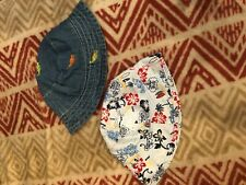 Boys 12 month &under bucket hats (2). 1 denim&1 Hawaiian print. FREEship