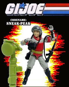 GI JOE Sneak Peek V1 1987 figure Hasbro ARAH Spy Periscope Stephen King