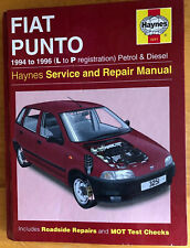 Haynes service and repair manual Fiat Punto 1994-1999 petrol and diesel.