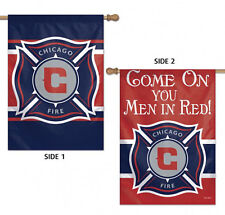 "Chicago Fire Double Sided MLS House Flag Licensed Soccer 28"" X 40"""