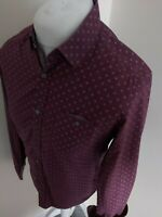 Ted Baker Floral Pearl button Shirt Pokey Purple 3 Medium 40 Chest Vvgc