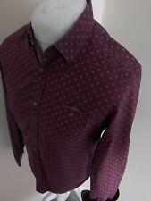 Ted Baker Floral Pearl button Shirt Pokey Purple 3 Medium 40 Chest Vvgc