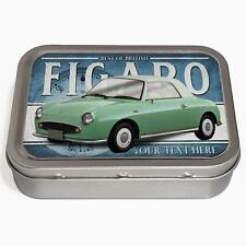 Personalised Nissan Figaro Green 2oz Tobacco Tin Classic Car Baccy Gift CL41
