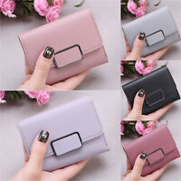 Women's Mini Purse PU Leather Small Clutch Wallet Folding Money Card Holder Bag