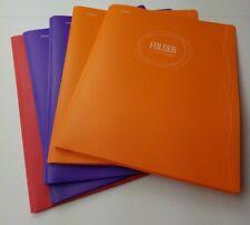 Mead 2 Pocket Pronged Portfolio Folders Variety of Colors Lot of 5