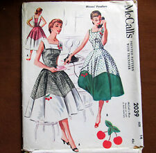 Misses PINAFORE Square Neckline Size 14 Vintage Sewing Pattern McCalls 2039