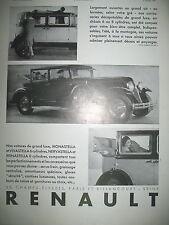 PUBLICITE DE PRESSE RENAULT MONASTELLA VIVASTELLA NERVASTELLA REINASTELLA 1930