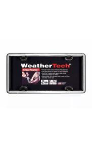 WeatherTech ClearFrame Chrome Black License Plate Frame