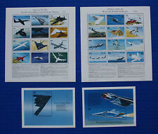 Palau (#403-406) 1996 Aircraft MNH sheet set