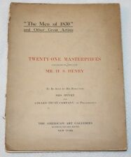 MR. H. S. HENRY Collection, AMERICAN ART GALLERIES, NY 1910 Auction Catalog