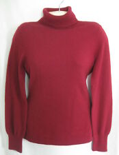 100% Cashmere dark red turtleneck sweater size M by Ann Taylor