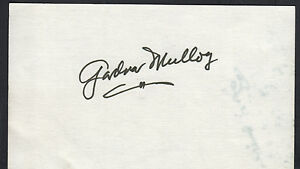 Gardnar Mulloy d'2016 Autographed 3x5 Index Card Tennis Champion Great for Frame