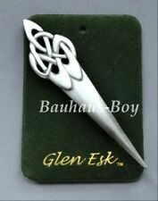 GlenEsk KILT PIN PEWTER CELTIC SWIRL ANTIQUE FINISH MADE IN THE UK SCOTTISH MEN