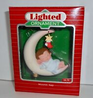 Hallmark Keepsake Christmas Ornament 1988 MOONLIT NAP MAGIC Light  H11