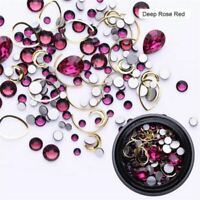 3D Glitters Nail Art Rhinestones Stud Manicure Acrylic Alloy Tips DIY Decoration