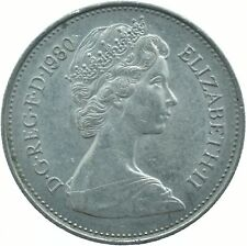 1980 LARGE 5P COIN ELIZABETH II.  #WT17474