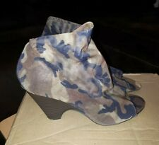 Forever 21 Womens Camo Wedge Shoes Size Uk7/US9 (Used)