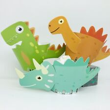 12 Dinosaur Cupcake Wrapper. Party Supplies Lolly Loot Bag Cake Topper Bunting