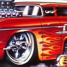 """""""Surfwagon"""" 1955 55 Chevy Nomad New Embossed METAL """"Garage Decor"""" Sign"""