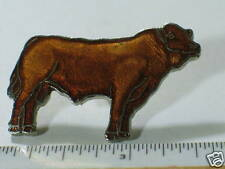 Blonde D'Aquitaine Bull Pin Cattle Cow Pin Extra Lg (#71)