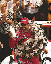 INDY CAR HELIO CASTRONEVES SIGNED 8X10 PHOTO INDIANAPOLIS 500 CHAMPION 4 W/COA
