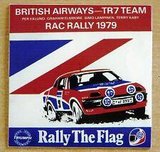 British Airways Triumph TR7 Team RAC Rally 1979 Motorsport Sticker Decal