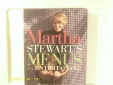 Martha Stewart's Menus for Entertaining 1994 Hardcover Very Good Condition