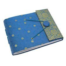 Fair Trade Handmade Small Sari Photo Album Blue
