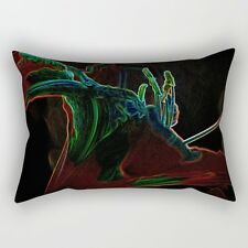 Neon Lily (#1) ~ 14x20 RECTANGLE OBLONG THROW PILLOW ~ Psychedelic Nature Design