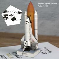 1:150 Scale 34cm Space Shuttle Atlantis 3D Puzzle Paper Model Rocket DIY Gift