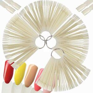200 x unghie finte espositore per smalto, Tip bianche per presentazione manicure
